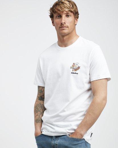 2 Island - Camiseta de Manga Corta para Hombre Blanco Q1SS27BIF9 Billabong