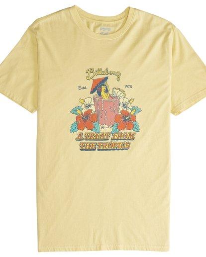 4 Maitai - Camiseta de Manga Corta para Hombre Amarillo Q1SS28BIF9 Billabong