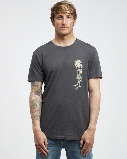 6 Twotail - Camiseta de Manga Corta para Hombre Negro Q1SS31BIF9 Billabong