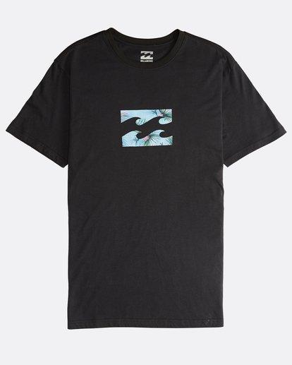 0 Team Wave - Camiseta de Manga Corta para Hombre Negro Q1SS36BIF9 Billabong