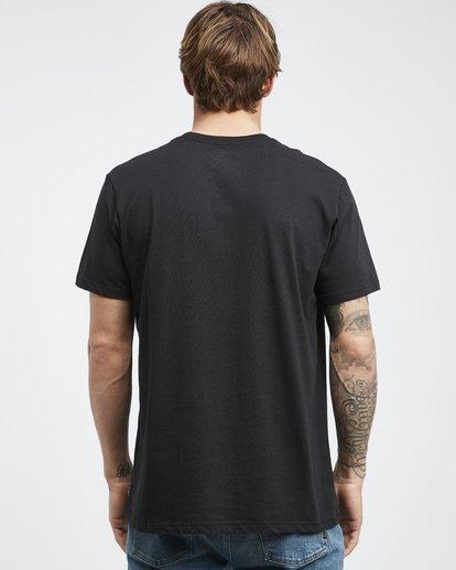 7 Team Wave - Camiseta de Manga Corta para Hombre Negro Q1SS36BIF9 Billabong