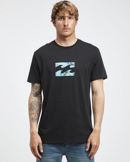 6 Team Wave - Camiseta de Manga Corta para Hombre Negro Q1SS36BIF9 Billabong
