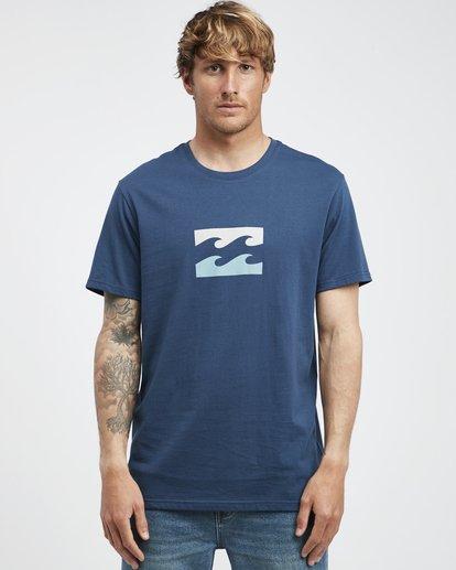 6 Team Wave - T-Shirt für Männer Blau Q1SS36BIF9 Billabong