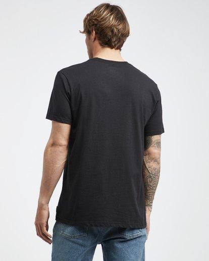 3 Team Wave - Camiseta de Manga Corta para Hombre Negro Q1SS36BIF9 Billabong