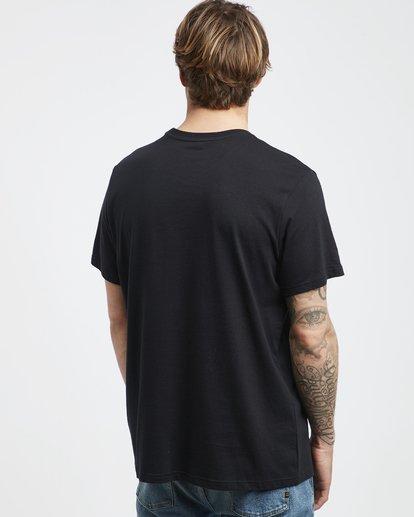 3 Access - Camiseta de Manga Corta para Hombre Negro Q1SS38BIF9 Billabong