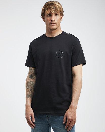 2 Access Back - Camiseta de Manga Corta para Hombre Negro Q1SS39BIF9 Billabong
