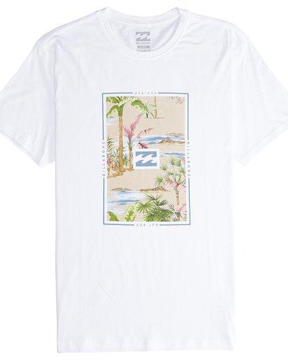 3 Tucked - Camiseta de Manga Corta para Hombre Blanco Q1SS40BIF9 Billabong
