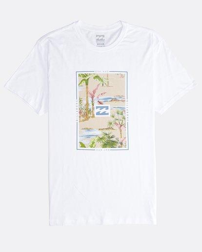0 Tucked - Camiseta de Manga Corta para Hombre Blanco Q1SS40BIF9 Billabong