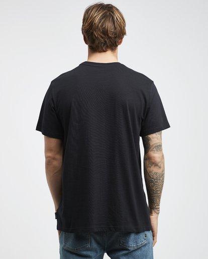 7 Tucked - Camiseta de Manga Corta para Hombre Negro Q1SS40BIF9 Billabong