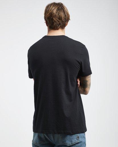3 Tucked - Camiseta de Manga Corta para Hombre Negro Q1SS40BIF9 Billabong