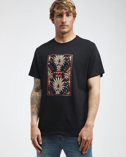 2 Tucked - Camiseta de Manga Corta para Hombre Negro Q1SS40BIF9 Billabong