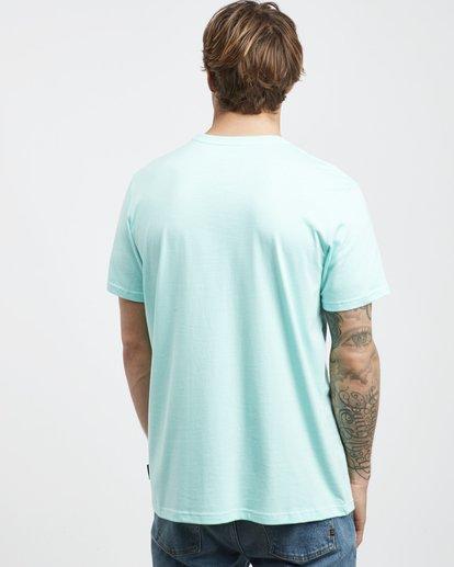 3 Tucked - Camiseta de Manga Corta para Hombre Verde Q1SS40BIF9 Billabong