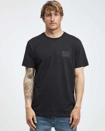 6 Die Cut Theme - Camiseta de Manga Corta para Hombre Negro Q1SS41BIF9 Billabong
