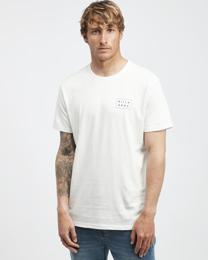 2 Die Cut Theme - Camiseta de Manga Corta para Hombre Beige Q1SS41BIF9 Billabong