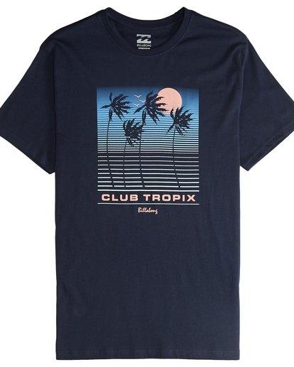 4 Tropix - Camiseta de Manga Corta para Hombre Azul Q1SS45BIF9 Billabong