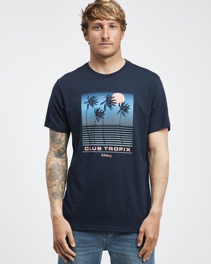 6 Tropix - Camiseta de Manga Corta para Hombre Azul Q1SS45BIF9 Billabong