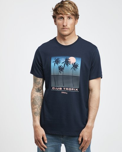 2 Tropix - Camiseta de Manga Corta para Hombre Azul Q1SS45BIF9 Billabong