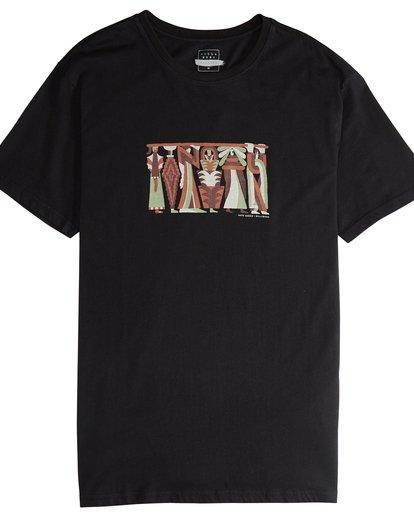 4 Line Up - Camiseta de Manga Corta para Hombre Negro Q1SS53BIF9 Billabong
