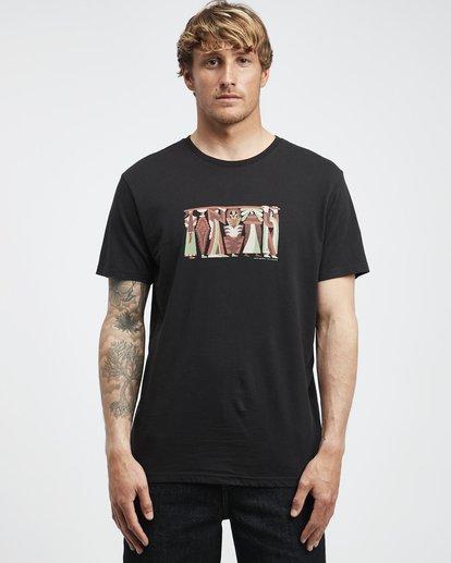 6 Line Up - Camiseta de Manga Corta para Hombre  Q1SS53BIF9 Billabong