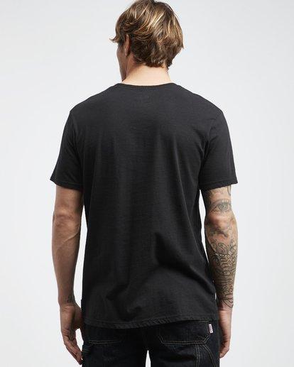 3 Line Up - Camiseta de Manga Corta para Hombre Negro Q1SS53BIF9 Billabong