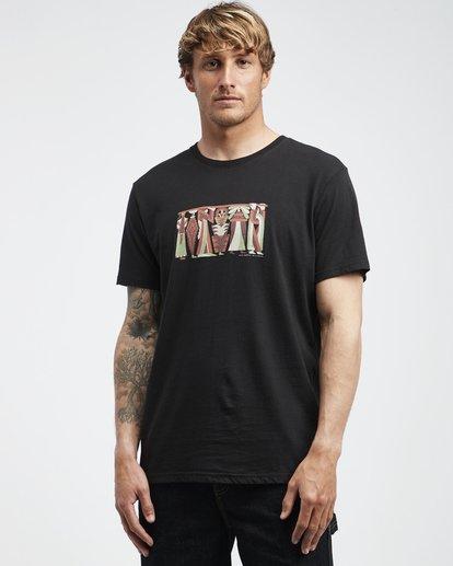 2 Line Up - Camiseta de Manga Corta para Hombre  Q1SS53BIF9 Billabong
