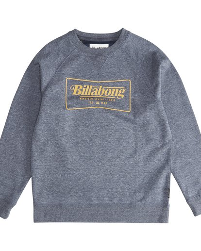 2 Trade Mark - Trademark Crew Fleece für Jungen Blau Q2CR01BIF9 Billabong