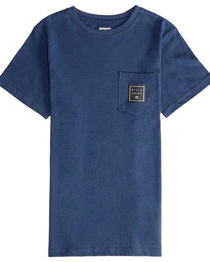 2 Stacked - Maglietta a Maniche Corte da Ragazzo Blue Q2SS01BIF9 Billabong