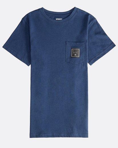 0 Stacked - Maglietta a Maniche Corte da Ragazzo Blue Q2SS01BIF9 Billabong