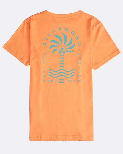1 Palm Spin - T-Shirt für Jungen Orange Q2SS09BIF9 Billabong