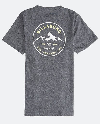 1 Aurora - Camiseta de Manga Corta para Chicos Gris Q2SS11BIF9 Billabong