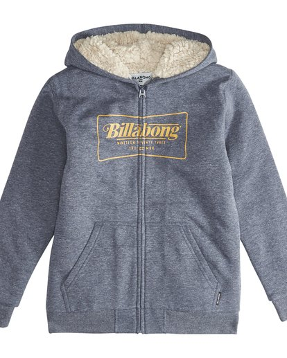 2 Trade Mark - Zip Sherpa Hoodie Boy for Boys Blue Q2ZH01BIF9 Billabong
