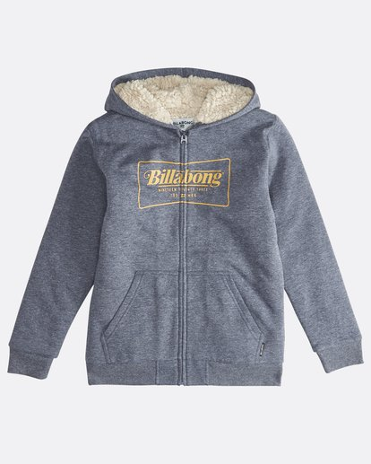 0 Trade Mark - Zip Sherpa Hoodie Boy for Boys Blue Q2ZH01BIF9 Billabong