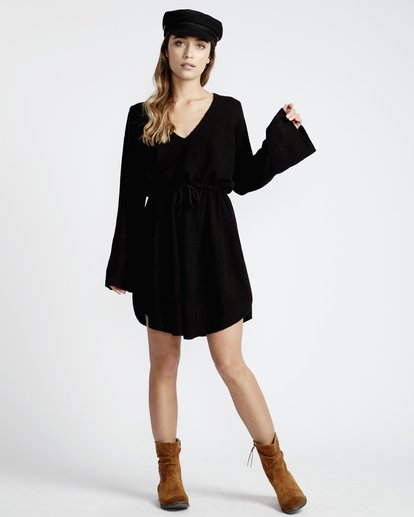 5 Crazy Life - Vestido para Mujer Negro Q3DR04BIF9 Billabong