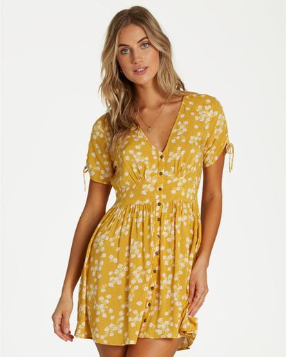3 Twirl Twist - Kleid für Frauen Gelb Q3DR10BIF9 Billabong