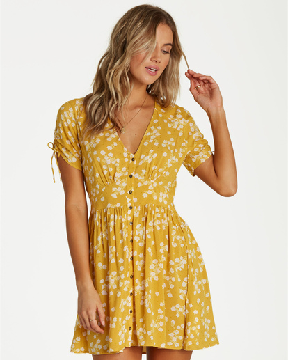4 Twirl Twist - Kleid für Frauen Gelb Q3DR10BIF9 Billabong