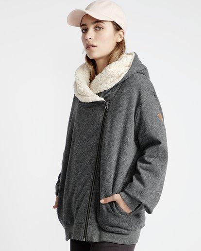 1 Cocoon - Jersey Sherpa para Mujer Negro Q3FL01BIF9 Billabong