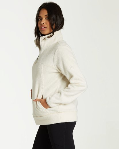 2 Boundary Mock - Fleece Jumper for Women White Q3FL04BIF9 Billabong