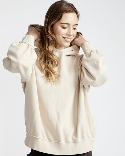 1 Organic - Hood Fleece für Frauen Weiss Q3HO09BIF9 Billabong