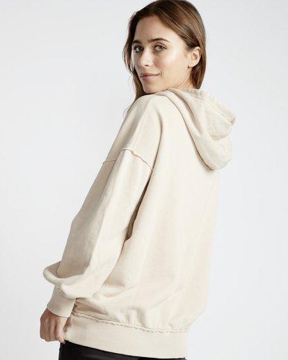 3 Organic - Hood Fleece für Frauen Weiss Q3HO09BIF9 Billabong