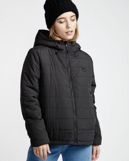 2 Transport - Puffer Jacket for Women Black Q3JK13BIF9 Billabong