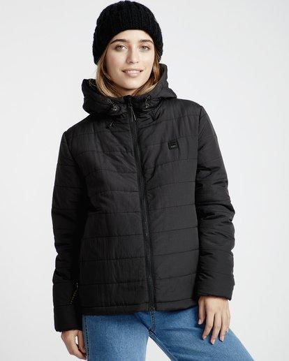 3 Transport - Puffer Jacket for Women Black Q3JK13BIF9 Billabong