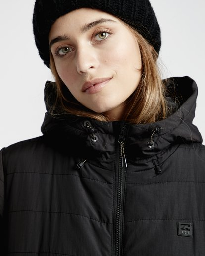 5 Transport - Puffer Jacket for Women Black Q3JK13BIF9 Billabong