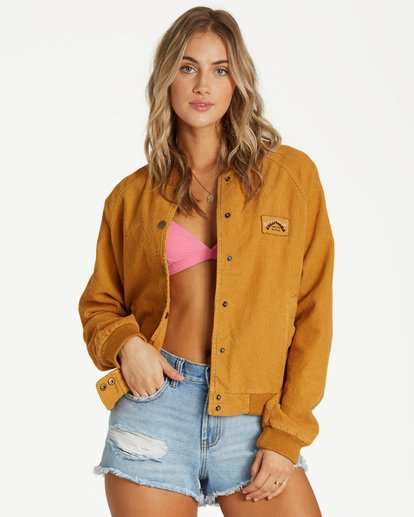 3 This Way - Jacket for Women Yellow Q3JK17BIF9 Billabong