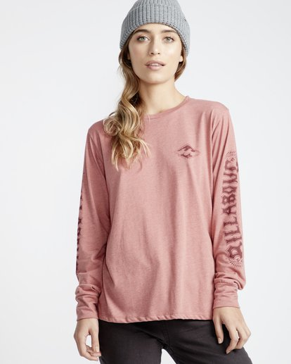 1 High Tide - Camiseta para Mujer Rosa Q3LS05BIF9 Billabong
