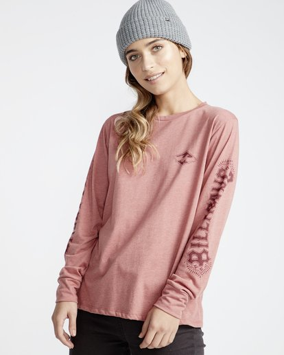2 High Tide - Camiseta para Mujer Rosa Q3LS05BIF9 Billabong