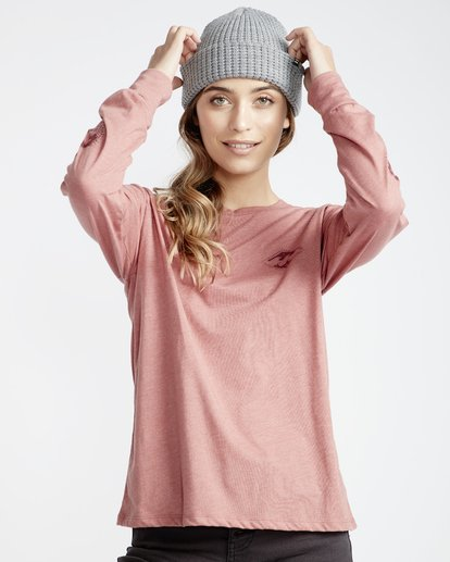 3 High Tide - Camiseta para Mujer Rosa Q3LS05BIF9 Billabong