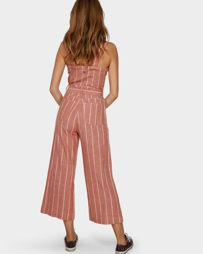 1 CROSSFIRE STRIPE JUMPSUIT Orange Q3PT40BIMU Billabong
