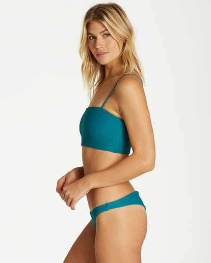 3 Tanlines Tanga - Braguita de Bikini para Mujer Azul Q3SB07BIF9 Billabong