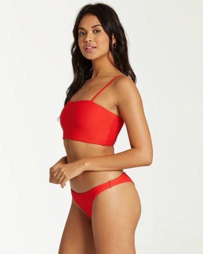 4 Tanlines Tanga - Braguita de Bikini para Mujer Rojo Q3SB07BIF9 Billabong