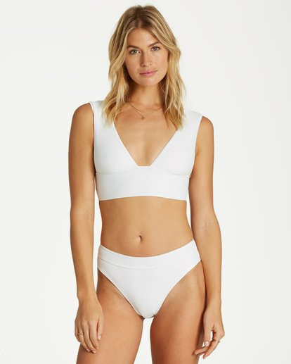 1 Too Salty Maui Rider - Bikini Bottom for Women White Q3SB51BIMU Billabong